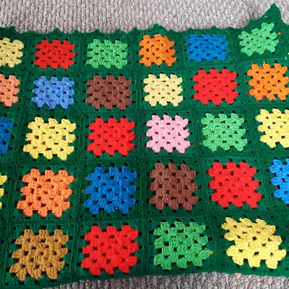 Beautiful Hand Made Crocheted Afghan colorful